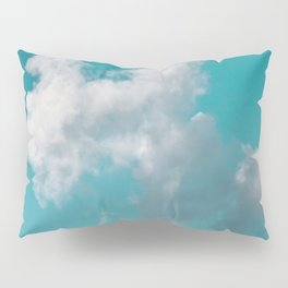 Floating cotton candy with blue green Pillow Sham