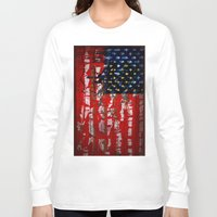 flag Long Sleeve T-shirts featuring Flag by Milton