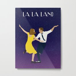 La La Land Minimalist Poster Metal Print