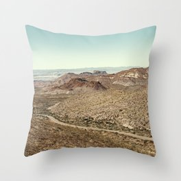 Big Bend National Park Autumn Landscape Sotol Vista Overlook Throw Pillow