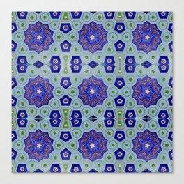 Samarkand Kaleidoscope in Blue Canvas Print
