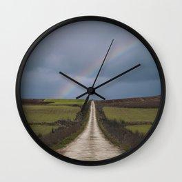 Path under the rainbow Wall Clock
