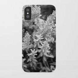 Leaves black n white iPhone Case