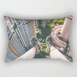 Sitting Way Atop the City Rectangular Pillow