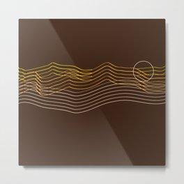 Mountain Wave Sunset Metal Print