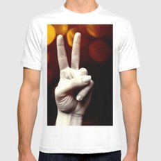 Peace Mens Fitted Tee MEDIUM White