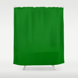 Christmas Holly and Ivy Green Velvet Color Shower Curtain