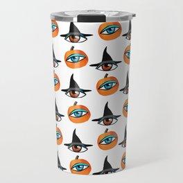 Witch Hats, pumpkins and eyes Travel Mug