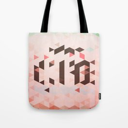 Triangel and Texture Design Tote Bag