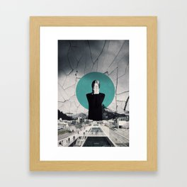 I'm closing my eyes to hear the people laugh ... Framed Art Print