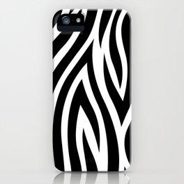 Large Zebra Animal Print iPhone Case