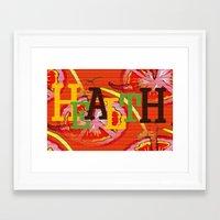 health Framed Art Prints featuring Health by Sartoris ART