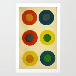 Contrast Circles Art Print