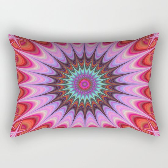 Quadrant mandala Rectangular Pillow