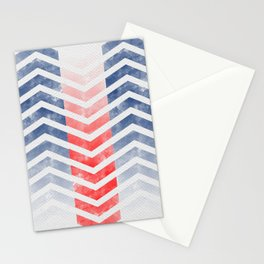 Chevron in Red White & Blue Stationery Cards