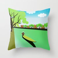 vietnam Throw Pillows featuring Vietnam views by Design4u Studio