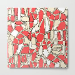 BROKEN POP coral Metal Print