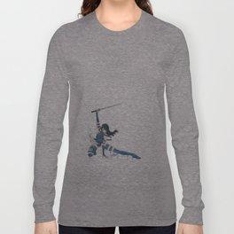Psylocke Watercolor Long Sleeve T-shirt