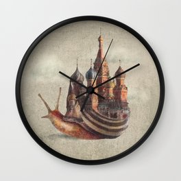 The Snail's Daydream Wall Clock