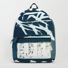 Fragments of the Past (31), art print, collage, blue print, cyanotype print, wall art, wall decor Backpack