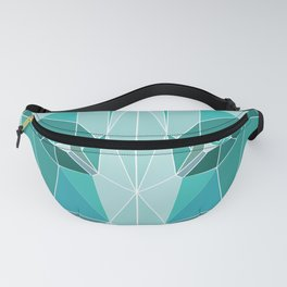 Green Emerald Wolf Fanny Pack