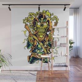 Western Cowboy Skull - Golden Fizz Wall Mural