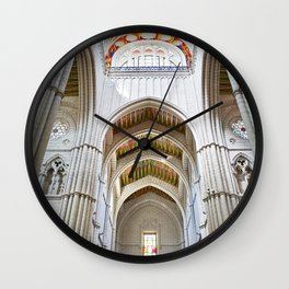 Interior of  Catholic cathedral in Madrid Wall Clock