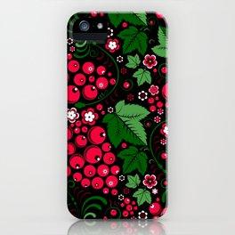 Modern Khokhloma iPhone Case