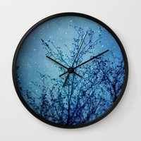 heaven Wall Clocks featuring Heaven by The Last Sparrow