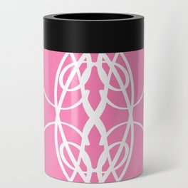 Pink White Swirl Can Cooler