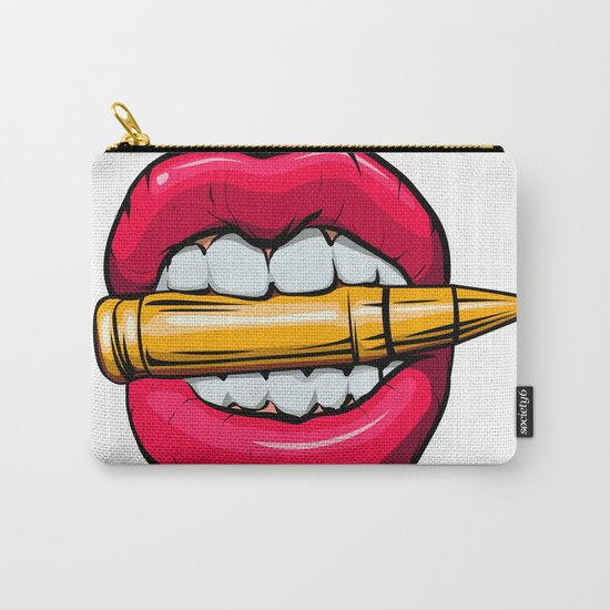 bullet in mouth. Carry-All Pouch