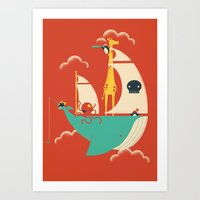 voyage Art Prints featuring Voyage by Jay Fleck