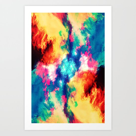 Painted Clouds V.1 MIRRORED Art Print