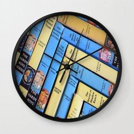 Nancy Drew & Hardy Boy Book Weave Wall Clock