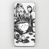 coffe iPhone & iPod Skins featuring Smile coffe by Kisava NiCh
