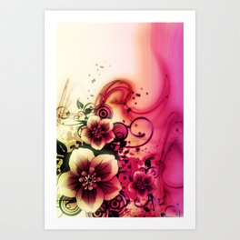 LIKE A FLOWER XXXI Art Print