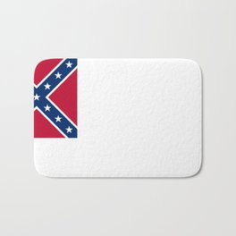 Bloodless Banner Of The Confederacy Bath Mat