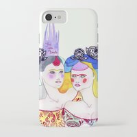 leah flores iPhone & iPod Cases featuring Flores by Tania Orozco