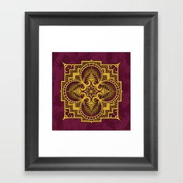 omjárah gold gallery mandala Framed Art Print