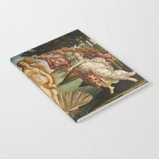 The Birth of Venus (Nascita di Venere) by Sandro Botticelli Notebook