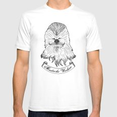 Mustache Wookiee MEDIUM Mens Fitted Tee White