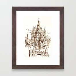 Cathedral, San Miguel de Allende Framed Art Print