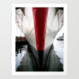 A Ship in Harbour Art Print