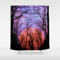 moonrise Shower Curtains featuring Moonrise Canyon by Pirmin Nohr