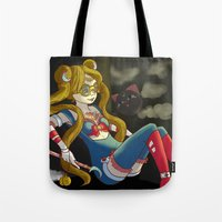 steam punk Tote Bags featuring Sailor steam punk by K-Boomsky