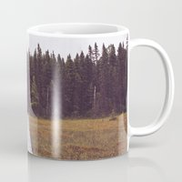 hiking Mugs featuring Fall Hiking by Simon Laroche