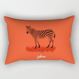 4-Legged Exotica Series: Zebra Rectangular Pillow