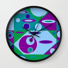 Circles and Ellipses Wall Clock