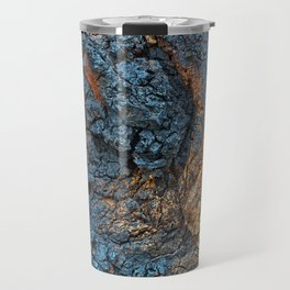 Charred Wood Texture Travel Mug