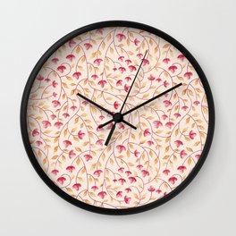 Botanical: Beige Vine Wall Clock
